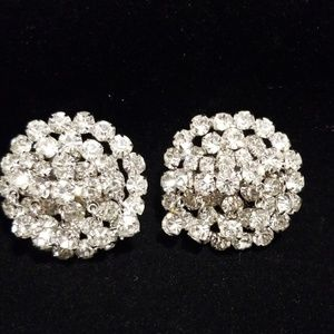 Vintage earrings, clip on